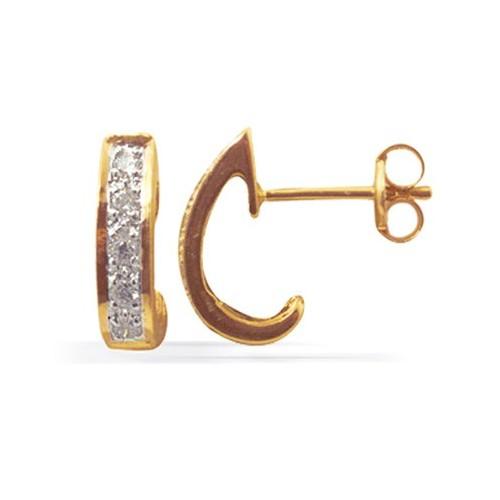 Boucles d'oreilles diamants sertis rail