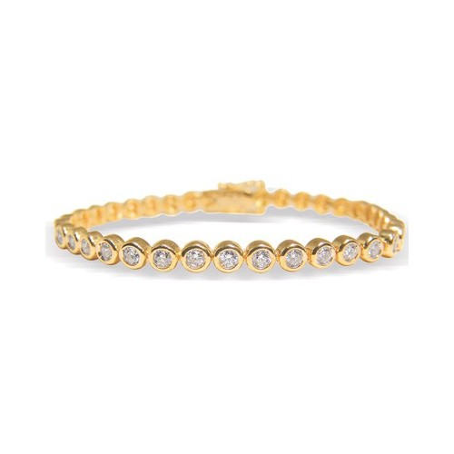 Bracelet diamants sertis clos n°4