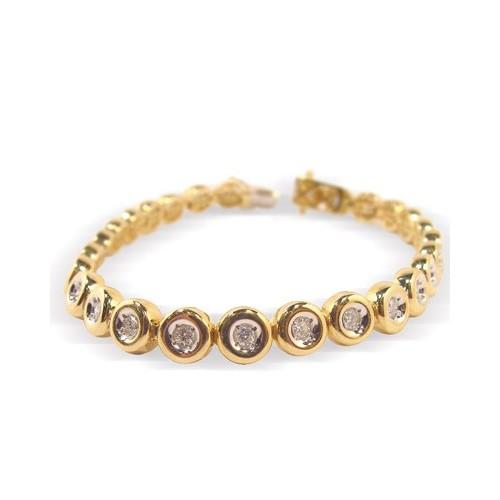 Bracelet diamants sertis clos n°3