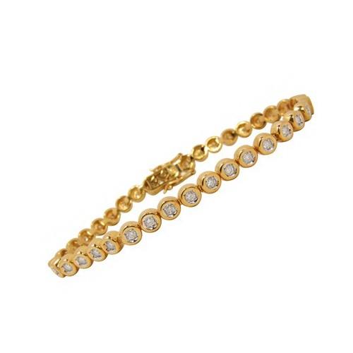 Bracelet diamants sertis clos n°2