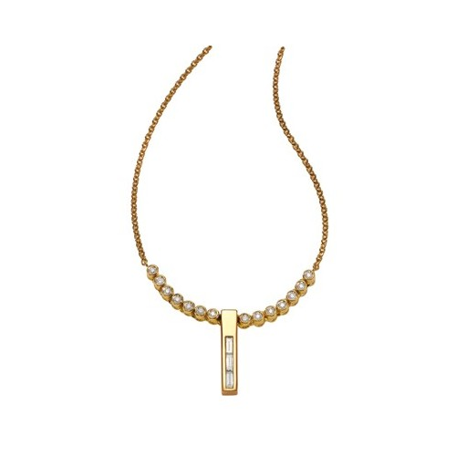 Collier diamants ronds et baguettes