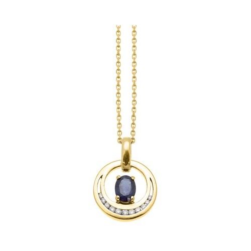 Pendentif Saphir Diamants