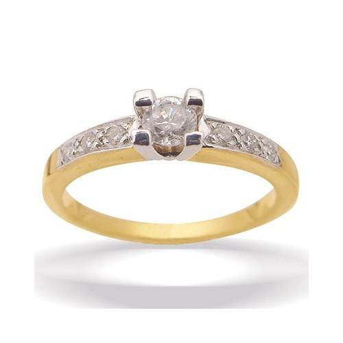 Solitaire et diamants cotés n°3