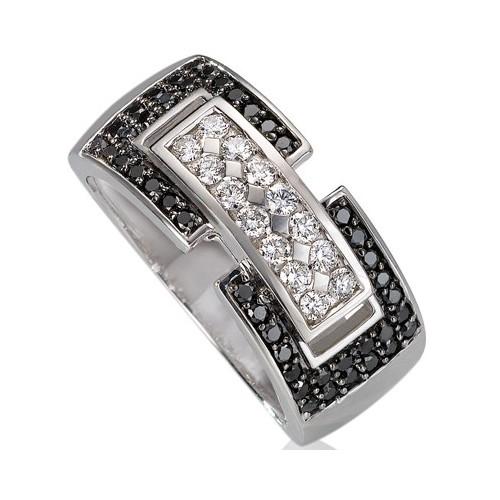 Bague diamants noirs