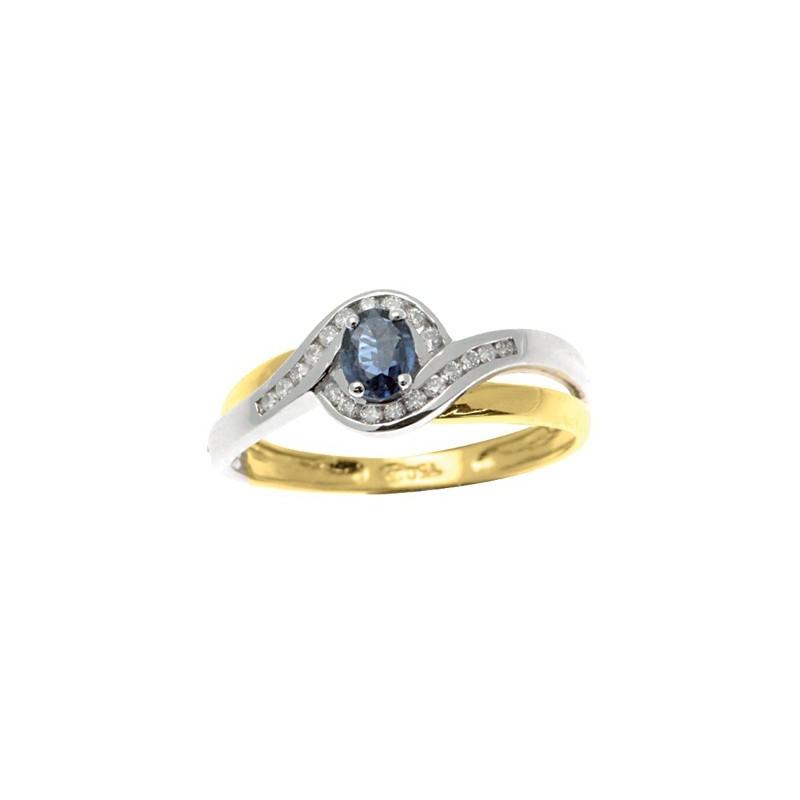 Bague Saphir et Diamants 2 ors