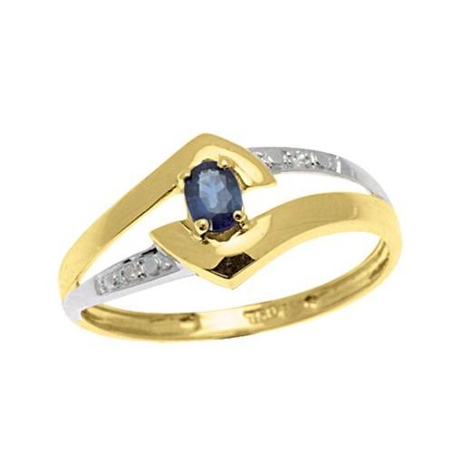 vBague Saphir et Diamants