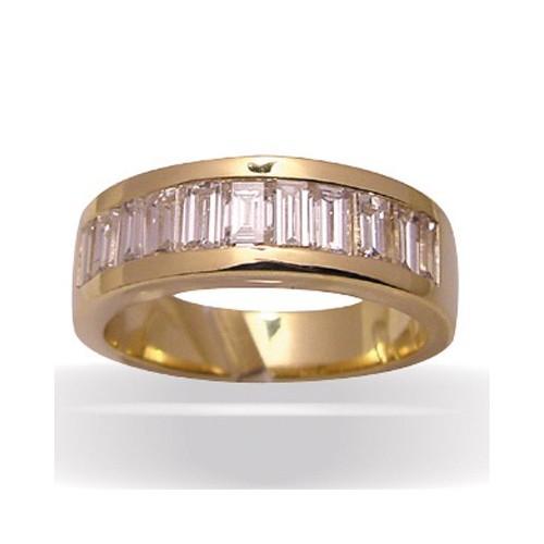 Demi-alliance jonc diamants , modèle 1