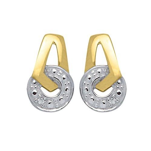 Boucles d'oreilles2 ors et Diamants