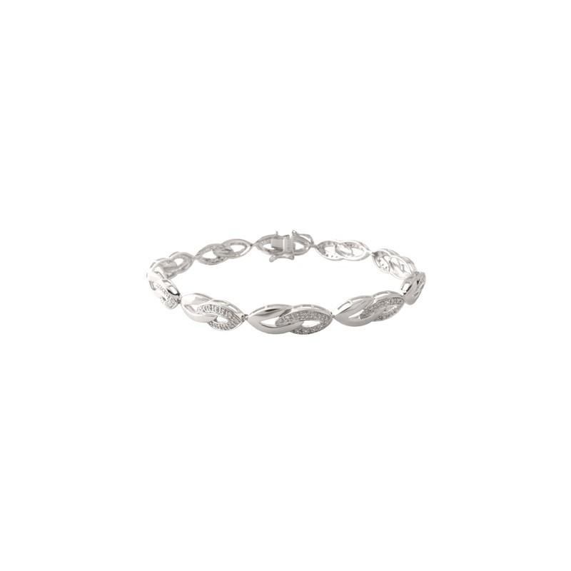 Bracelet or gris et diamants