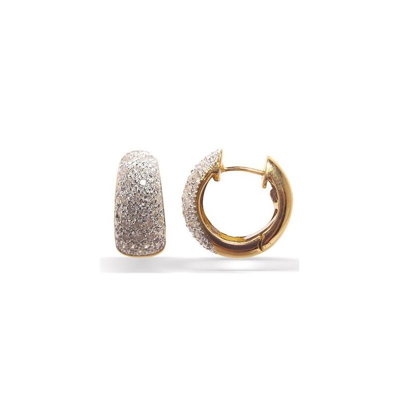Boucles d'oreilles pavage diamants
