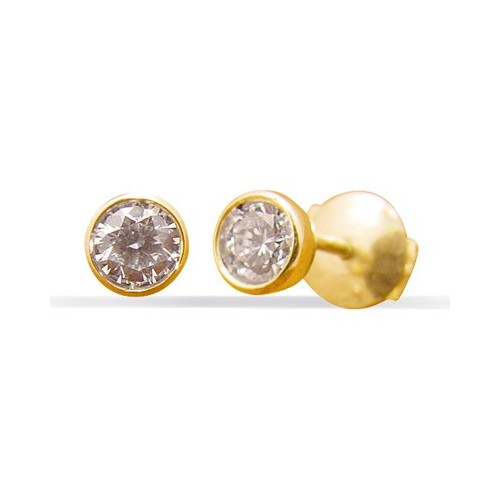 Clous d'oreilles diamant serti clos