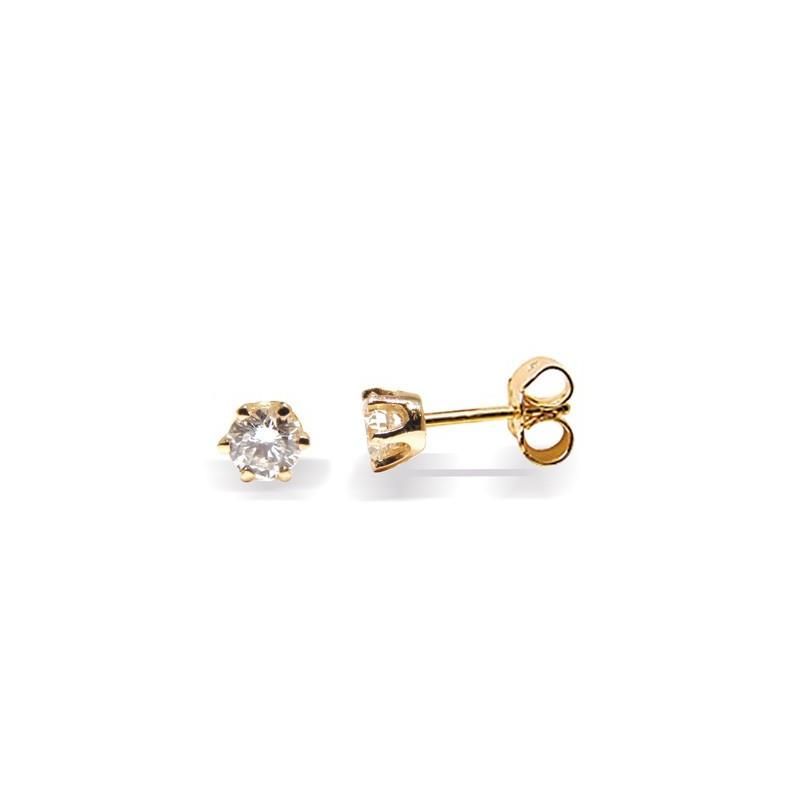 Clous d'oreilles diamants