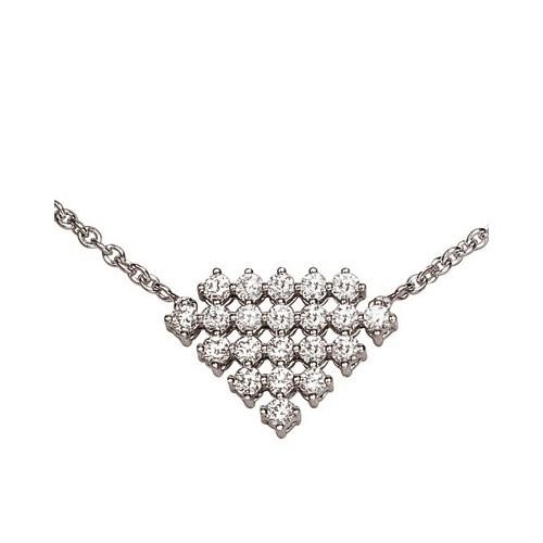 Collier pendentif serti diamants