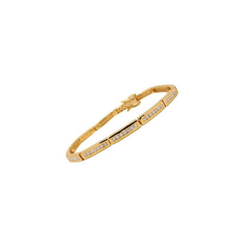 Bracelet diamants sertis rail
