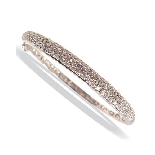 Bracelet pavage 3 rangs diamants
