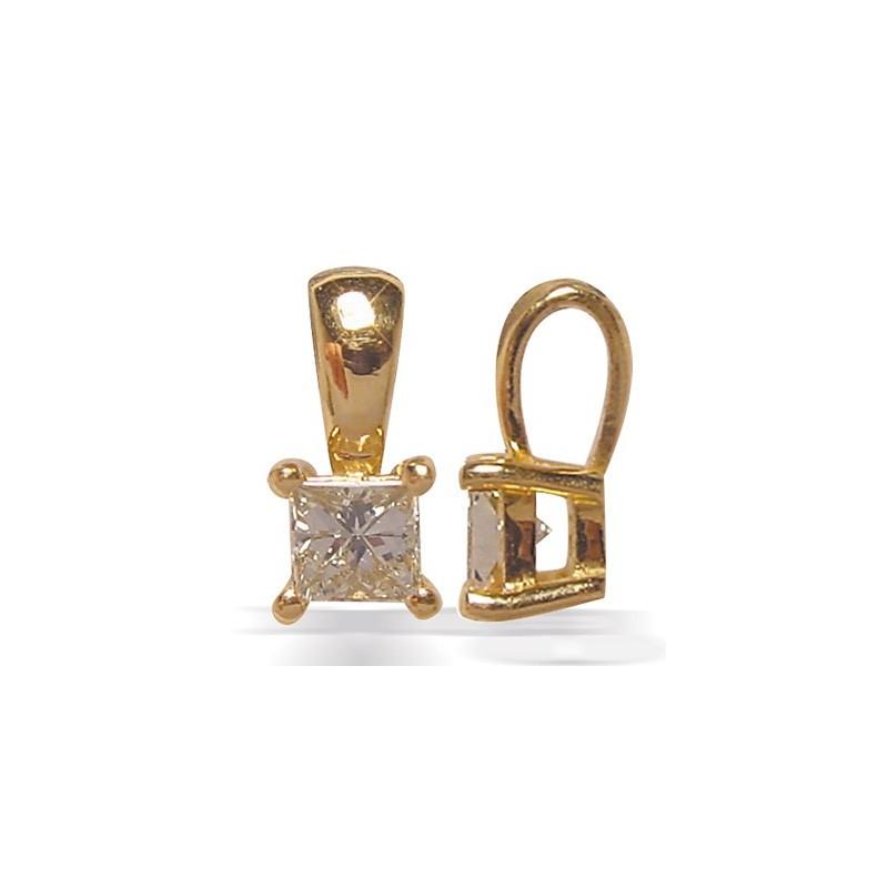 Pendentif diamant carré