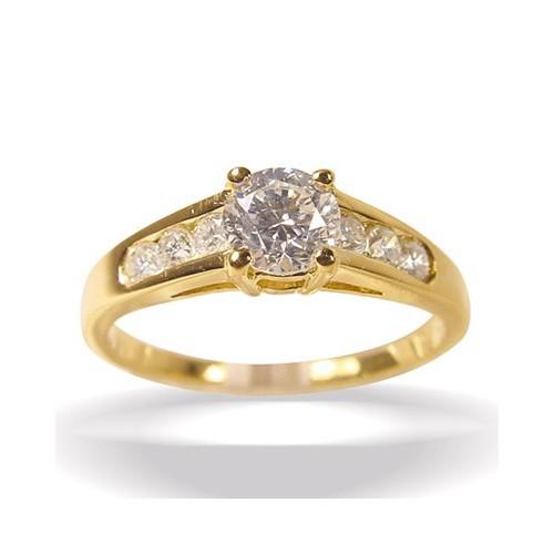 Solitaire et diamants cotés n°2