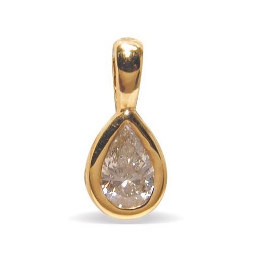 Pendentif diamant poire n°1